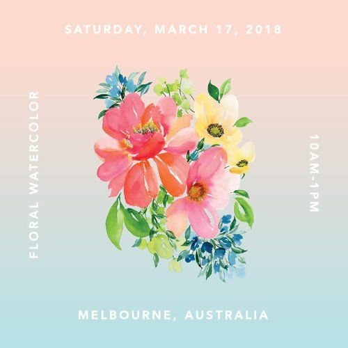 Monvoirworkshops Floral Watercolor Classes Are Coming To Melbourne