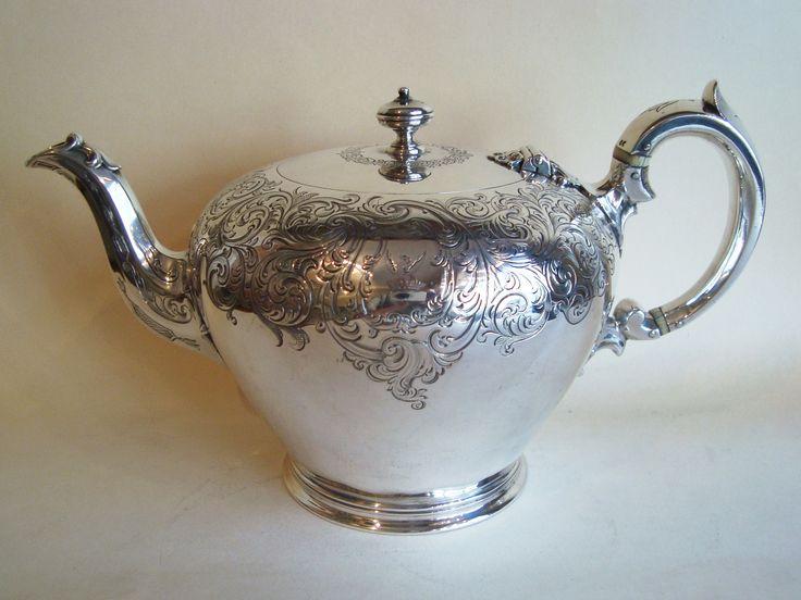 antique teapots   Victorian teapot £SOLD   Henry Willis - Antique Silver Dealer
