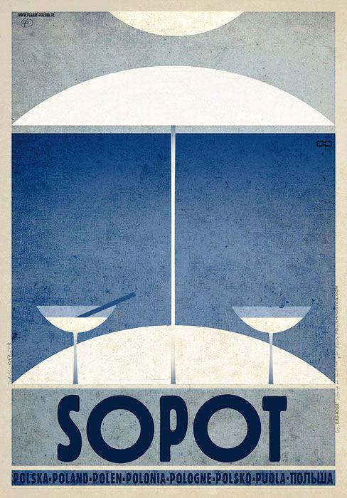 Sopot, Zoppot | Polish Promotion Poster, PLAKAT-POLSKA series, designer: Ryszard Kaja, year: 2013