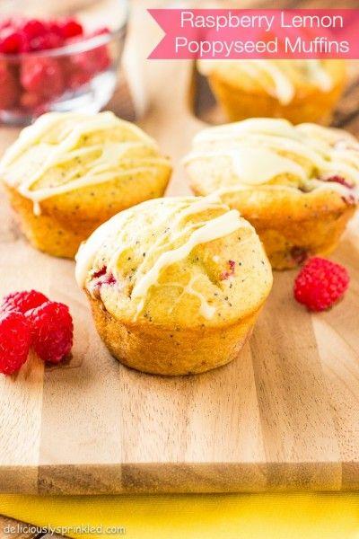 Raspberry Lemon Poppyseed Muffins - Deliciously Sprinkled