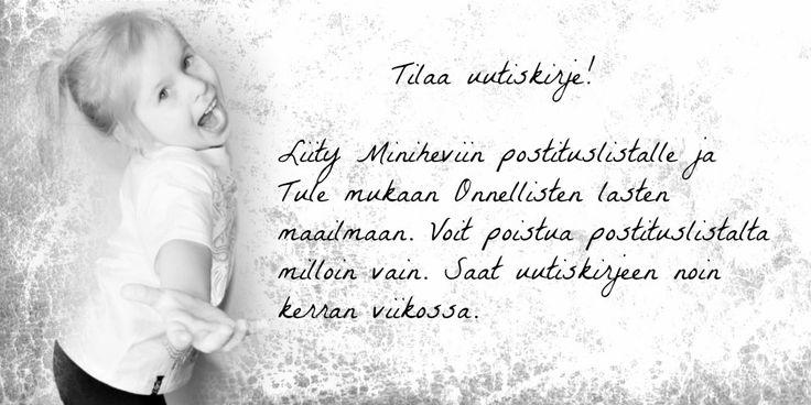 Etusivu - Minihevii  Tilaa uutiskirjeesi -> http://eepurl.com/bMP87r