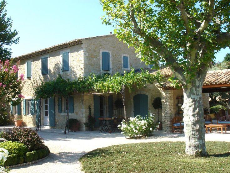 Case di nuova costruzione nel Luberon: una provenzale Mas in pietra - A. Nelson Architetto, Paesaggio in Provenza, Francia