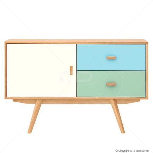 Sofia Sideboard - Scandinavian Furniture - White, Blue