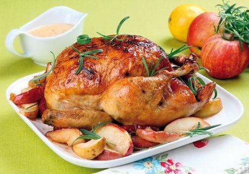 Курица с яблоками - Рецепты курицы с яблоками - Как правильно
