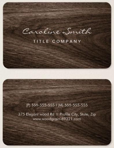 De 94 bedste billeder fra business cards p pinterest advokater classy dark oak wood grain professional profile business card colourmoves