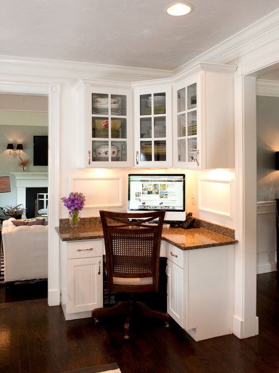 196 best kitchen desk area images on pinterest home for Small office area