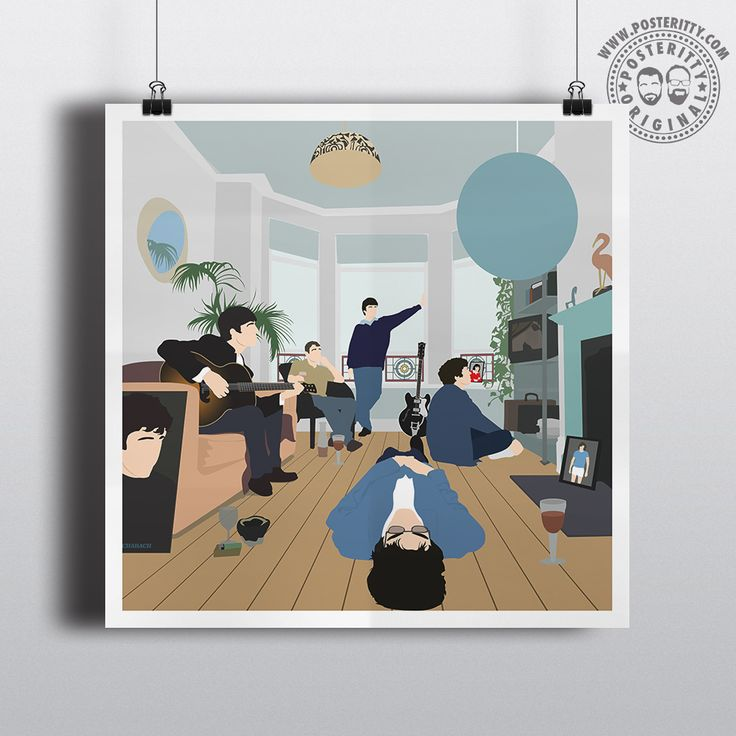 Oasis - Definitely Maybe Minimalist Album Art by #Posteritty #Oasis #DefinitelyMaybe #MinimalAlbums #PosterittyStyle