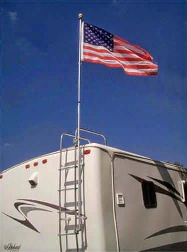 MEMORIAL DAY CELBRATED FROM YOUR RV- FLAG POLE BUDDY FLAG POLE KIT - RVUPGRADES.COM