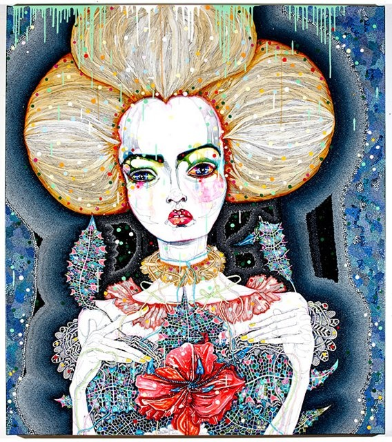 'satellite fade-out 7' by del kathryn barton
