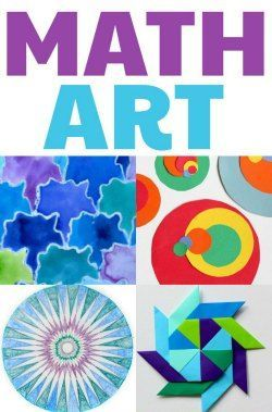 Lots of math art activities and projects for kids.