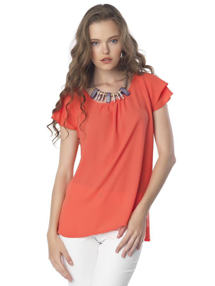 #coral#boxy#top