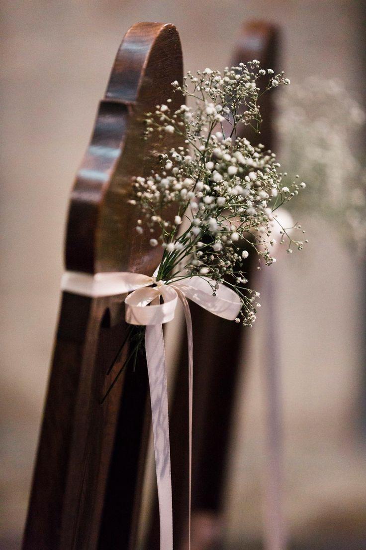 church flower schleierkraut diy decoration wedding blumen dekoration kirche trauung stuhl gypsophilia white kln cologne germany - Gelbe Sthle Passen Zu Welcher Kche