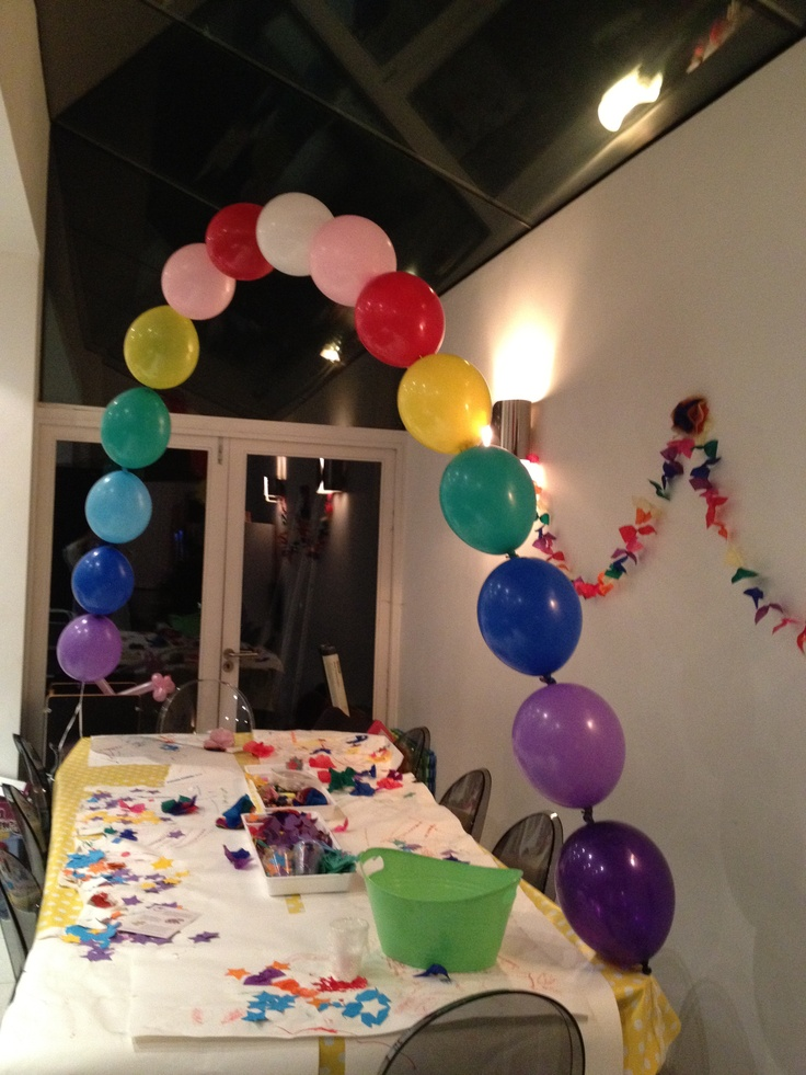17 best images about kids tablescape ideas on pinterest for Easy balloon decoration ideas