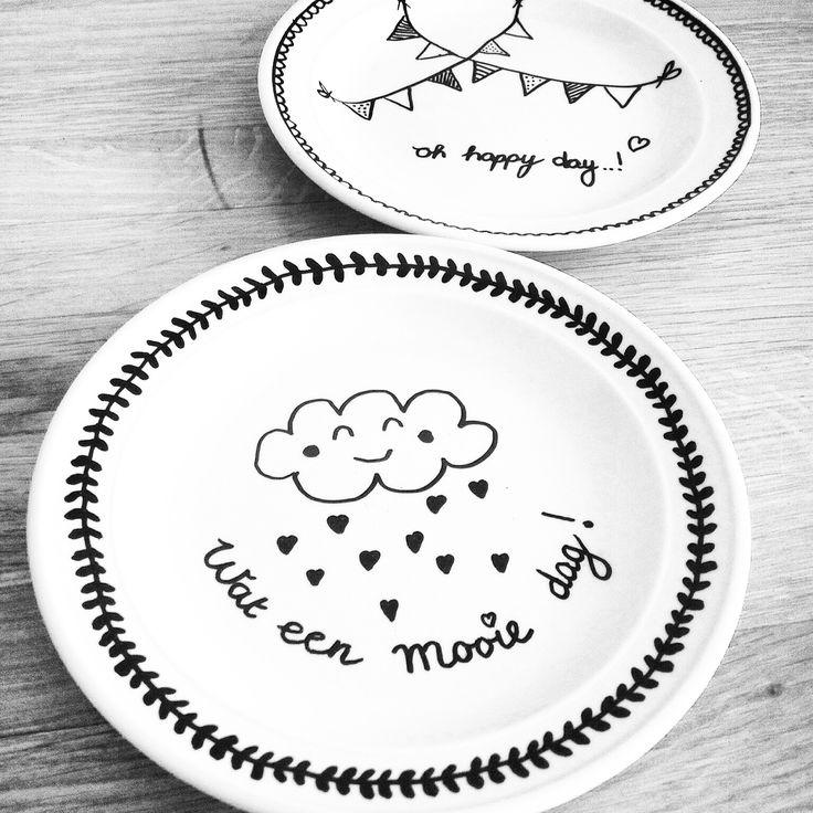 DIY plates paint ♥