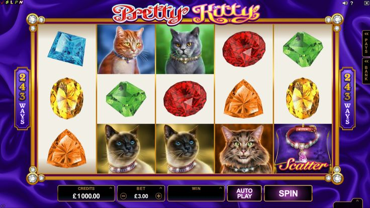 Pretty Kitty is a 5x3 Reel 243 Ways Online Slot and is suitable for Beginner, Advanced and Expert Players. The maximum jackpot available in this game is 140 000 coins. Find this newly released Online Video Slot at Crazy Vegas Casino. https://www.crazyvegas.com/