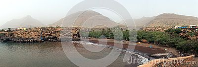Bay Gombeza, Island of Sao Nicolau, Cape Verde. Panorama 11 photo