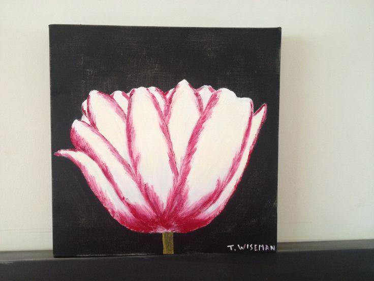 Tulip on Black Acrylic