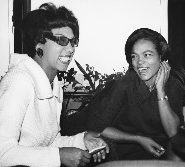 "summers-in-hollywood: ""Josephine Baker & Eartha Kitt, 1950s """