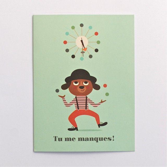 carte Tu me manques Ingela P. Arrhenius - Deco Graphic | Message tu me manque, Jolies cartes ...