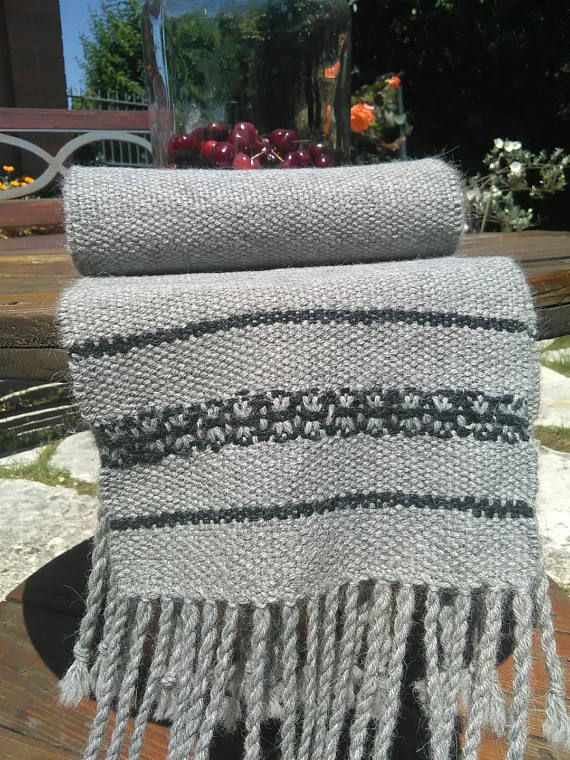 Sciarpa di alpaca tessuta al telaio