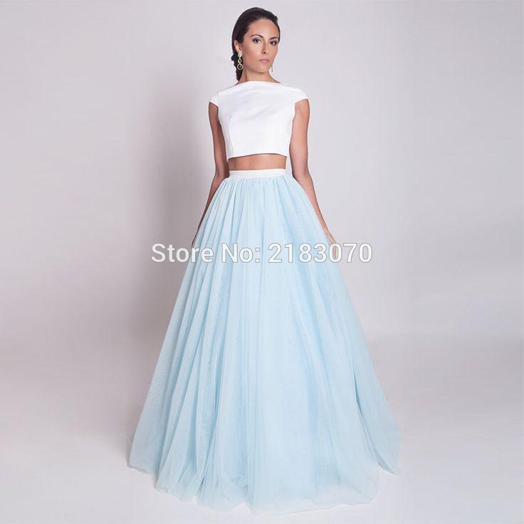 Robe bleu clair mariage