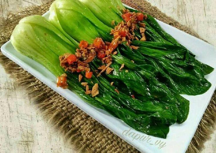 PAKCOY Siram Bawang Cabe ala resto