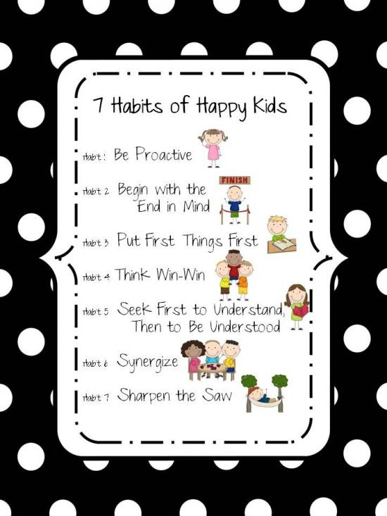 7 Habits of Happy Kids Poster product from KCriss-Creations on TeachersNotebook.com