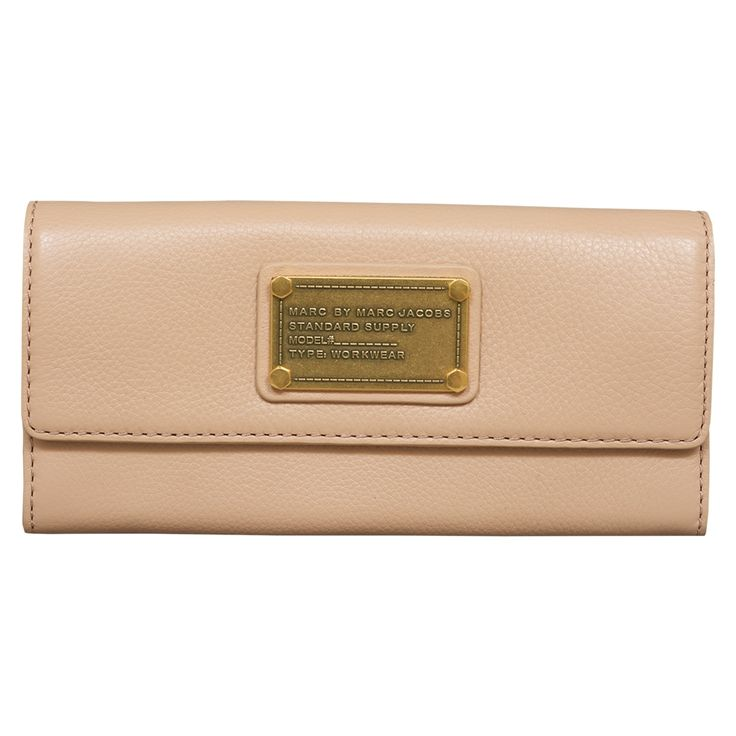 Marc by Marc Jacobs Classic Q Buff Sand Continental Wallet