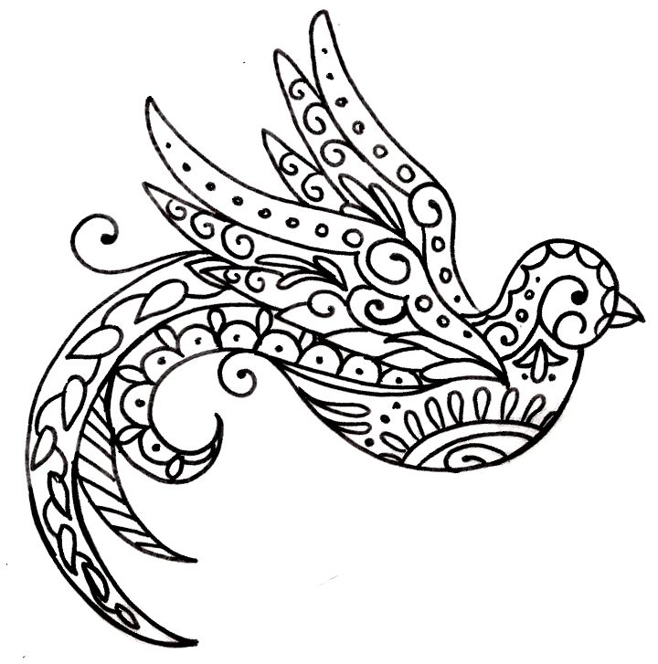 paisley_bird_tattoo_by_metacharis-d5c4wgf.jpg (720×727) Paisley Bird Tattoo by ~Metacharis on deviantART metacharis.deviantart.com