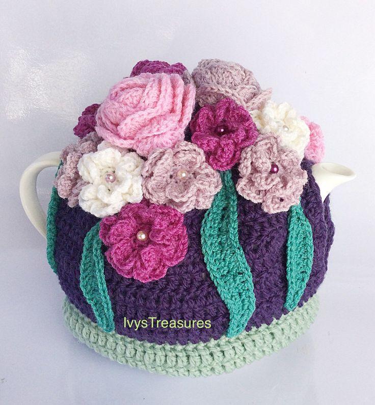 A personal favorite from my Etsy shop https://www.etsy.com/au/listing/275375290/crochet-roseflower-tea-cosy-anns-garden