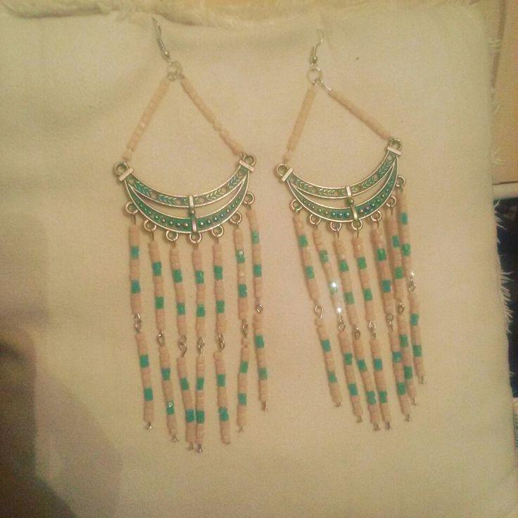 Handmade long earings!be stylish!