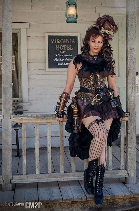 d312edb4d39 Steampunk Saloon Girl   Western Steampunk (Wild Wild West) - Woman dressed  in wild west steampunk clothing--corset