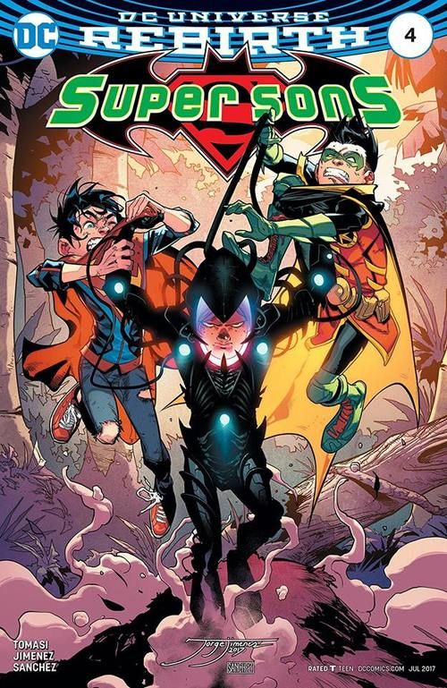 Lex Luthor is just jealous because he's too old to be part of the Super Sons club. Superman, May 2017