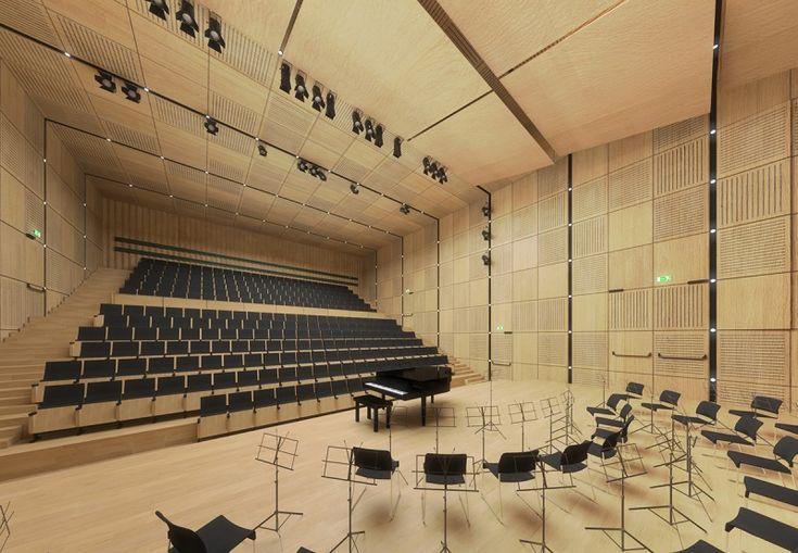 Small concert hall in Jastrzebie Zdroj. #competition #architecture #project #concert