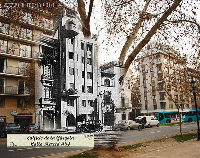 Edificio de la gárgola - Calle merced 84. Santiago. Luciano Kulczewski (1928)