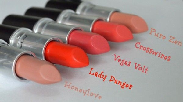 MAC - Honeylove - Lady Danger - Vegas Volt - Crosswires - Pure Zen
