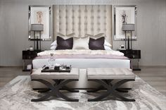 Discover the best luxury bedroom inspiration for your next interior design project! Find more at http://www.maisonvalentina.net/