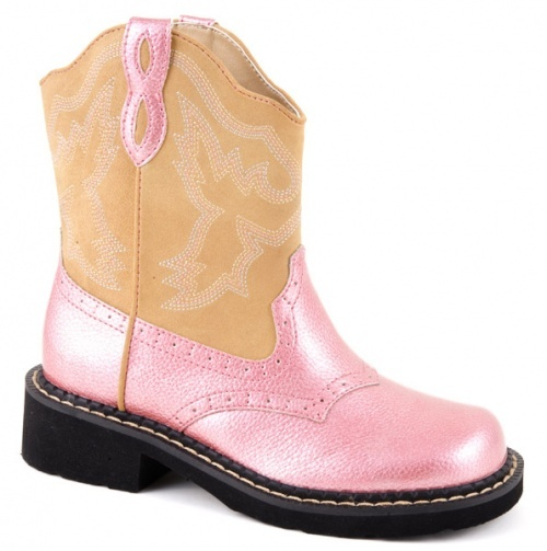 Kids Western Boots in Pink.