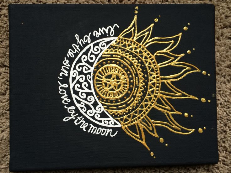 Live by the sun, Love by the moon. Made for self. Inspired by similar pin. Gold puffy paint.                                                                                                                                                                                 More