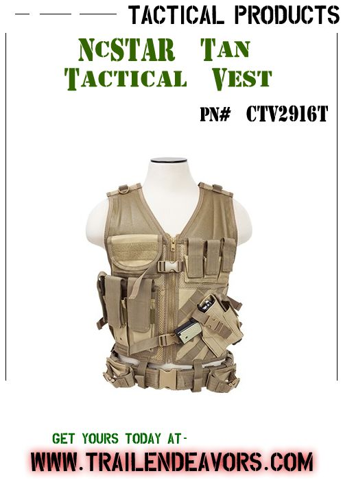 NcSTAR Tactical Vest - Fully adjustable Tactical Vest that helps keep your shooting gear organized for easy access, so that your shooting gear is right where you need it when you out in the field.