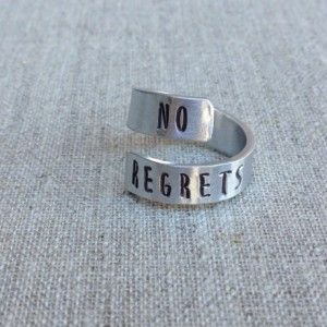 NO REGRETS Sterling Silver Wrap Ring