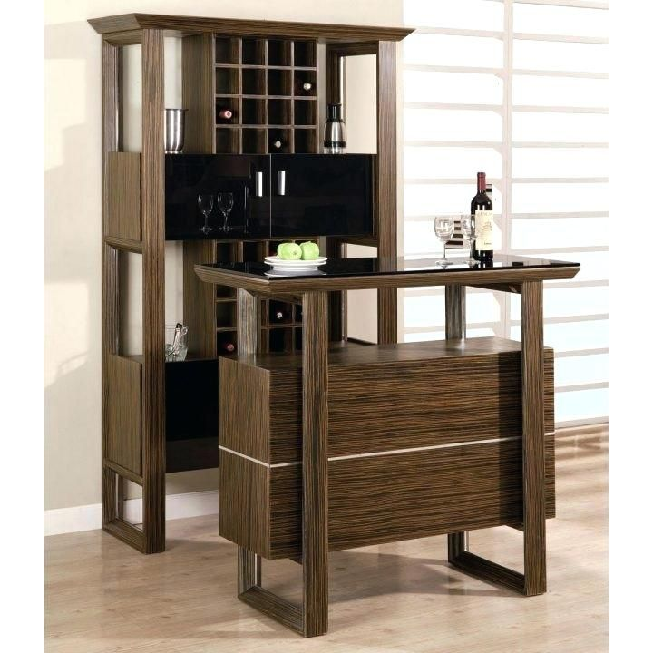 wine cabinet and bar table set furniture design