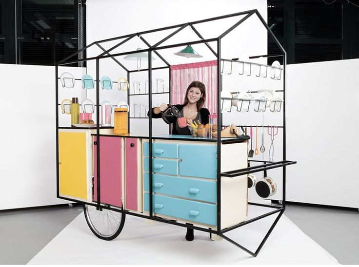 Under the direction of Bureau A, students of the Geneva University of Art and Design have completed a mobile exhibition set of modules – with a fully sized realization of the kitchen concept.