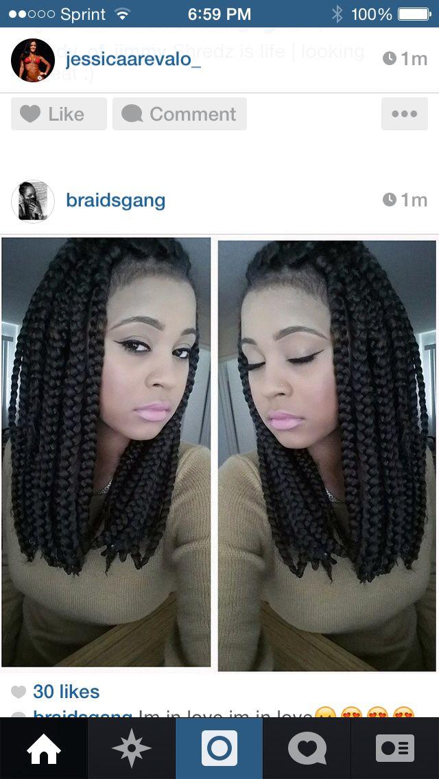 Short box braids