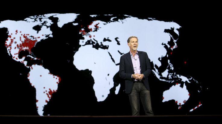 Netflix lanza un cambio global, pero se nota la ausencia de China  Reed Hastings, el CEO de Netflix, durante el anuncio de la llegada del servicio a 190 países foto: Reuters
