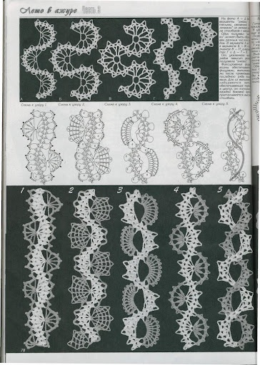 Crochet ribbons
