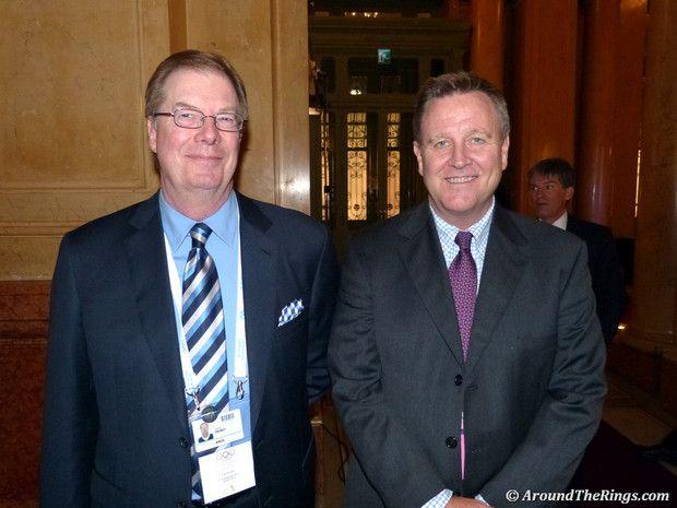 USOC Pres. Larry Probst and CEO Scott Blackmun (ATR)