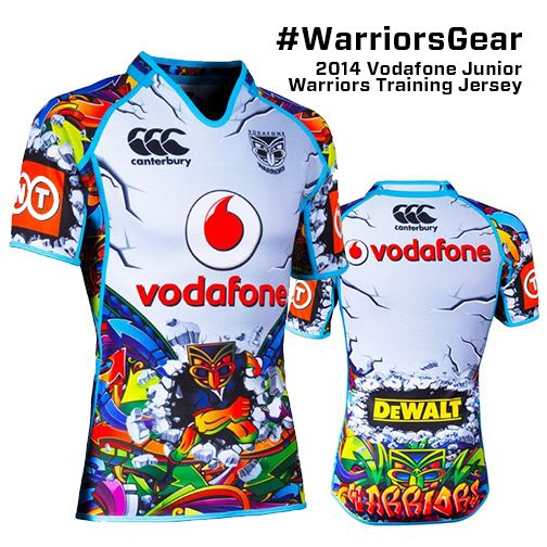 I absolutely love this kids New Zealand Warriors jersey design. Such a great way to engage fans with their multiple jerseys each year and this would have to be one of their better and more 'out there' designs