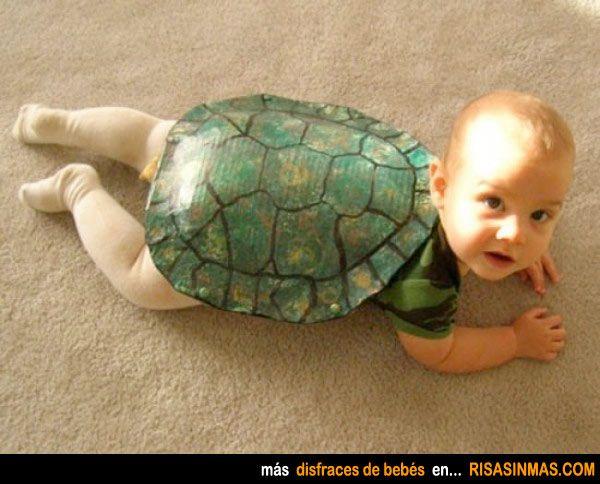 Disfraces de bebés: Tortuga