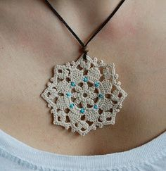 crochet jewelry. I love this! Maybe I need to learn to crochet after all!